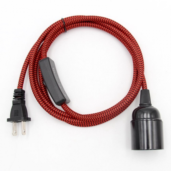For Lamp Cord Kits Eu Cords, Replacement Lamp Cord With Flat Plug